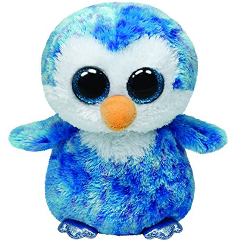Ty Boos Stuffed & Plush Ice Cube The Blue Penguin Toy 15cm