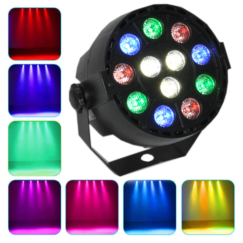 12 Rgb Led Stage Strobe Light 8ch Lighting Laser Projector Party Club Eu/Us Plug