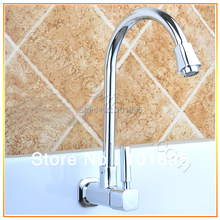 L15521-Роскошные Настенные Латунь Кухня Холодной Водопроводной Воды