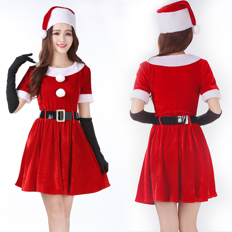 Christmas Party Acting Dress Costume Sexy Charming One-Piece Dress Lovely Princess Girls Clothers for Cosplay