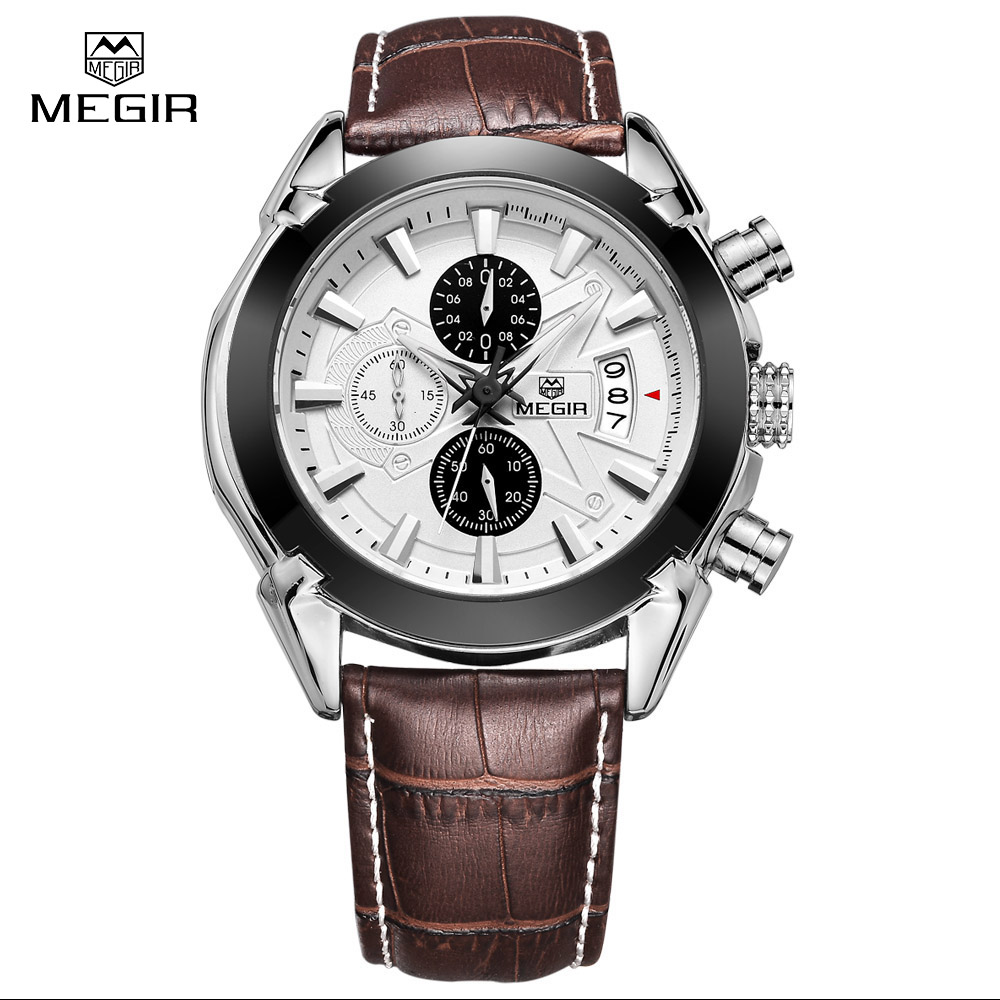 MEGIR Luxury Brand Military Watches Men Quartz Chronograph ...