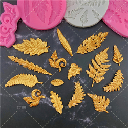 Leaf Shape Chocolate Silicone Fondant Mold For Cake Decorating Cookie Baking Gumpastes Moulds Steam Oven Available And Resin Art