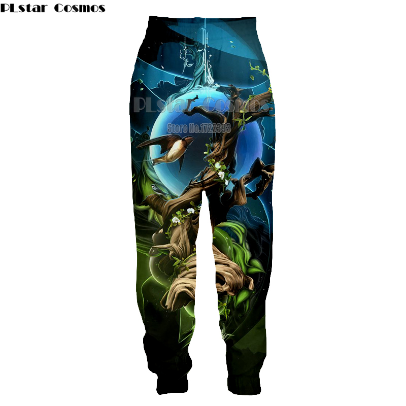 PLstar Cosmos Dropshipping 2018 New Fashion Mens Casual joggers Pants Women/Men Hip Hop Sweatpants 3d Print Birds Trousers
