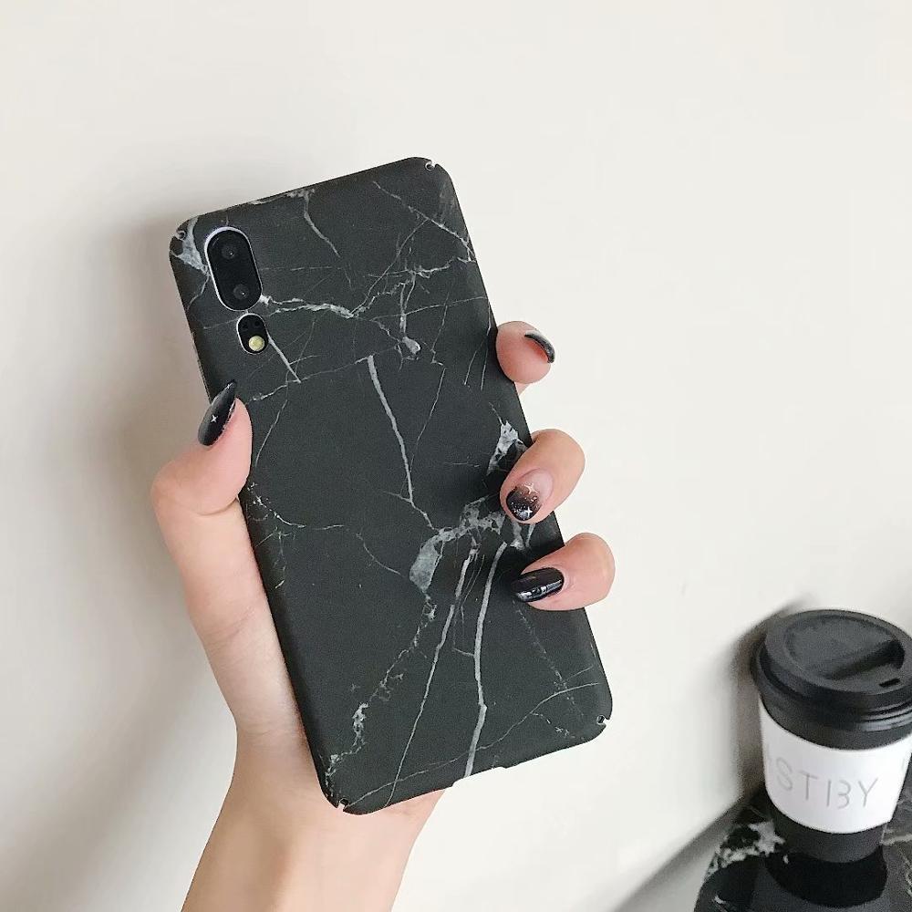 LANCHE For Xiaomi Redmi note 7 8 Case Hard PC Marble Pattern Phone Cover For xiaomi mi 8 Lite mi 9 mi9 Case For Xiaomi Play Capa