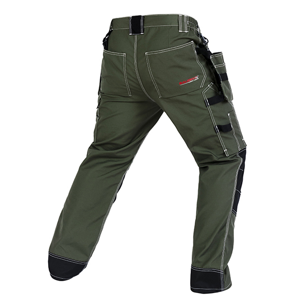 Bauskydd High quality men's wear-resistance multi-pockets work trousers cargo work pant workwear construction mechanic 1
