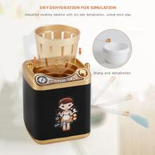 Mini Simulation Electric Makeup Brush Powder Puff Cleaner Washing Machine Childr