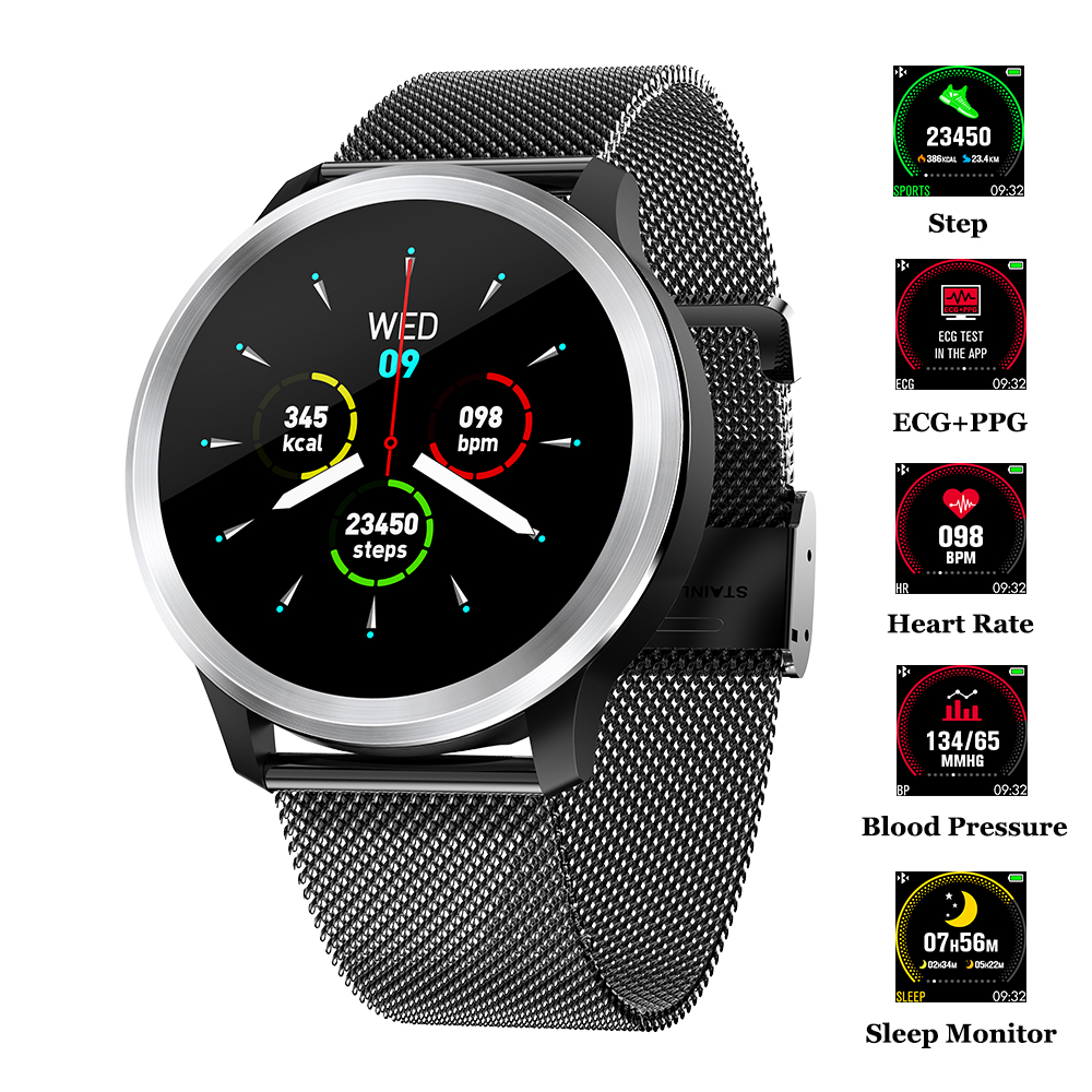 Smart Watch ECG PPG Smart Fitness Band Heart Rate Blood Pressure Watch IP68 Waterproof Smartwatch for IOS Android Phone Watch