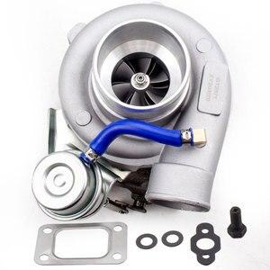 Image 2 - Универсальный GT2871 T28 400 + HP турбо Турбокомпрессор подходит 240SX S13/S14 SR20/CA18 0,6 A/R 0,64 A/R 5 болт фланца
