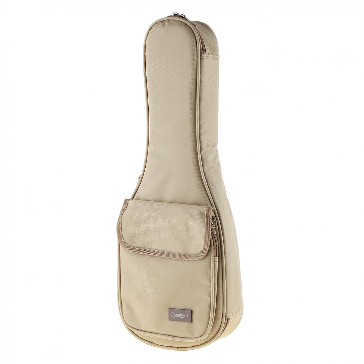 21 Inch 600D Oxford face Material Concise Khaki Ukulele Bag 15mm Sponge Soft Case Gig Stereoscopic Ukelele Mini Guitar Backpack