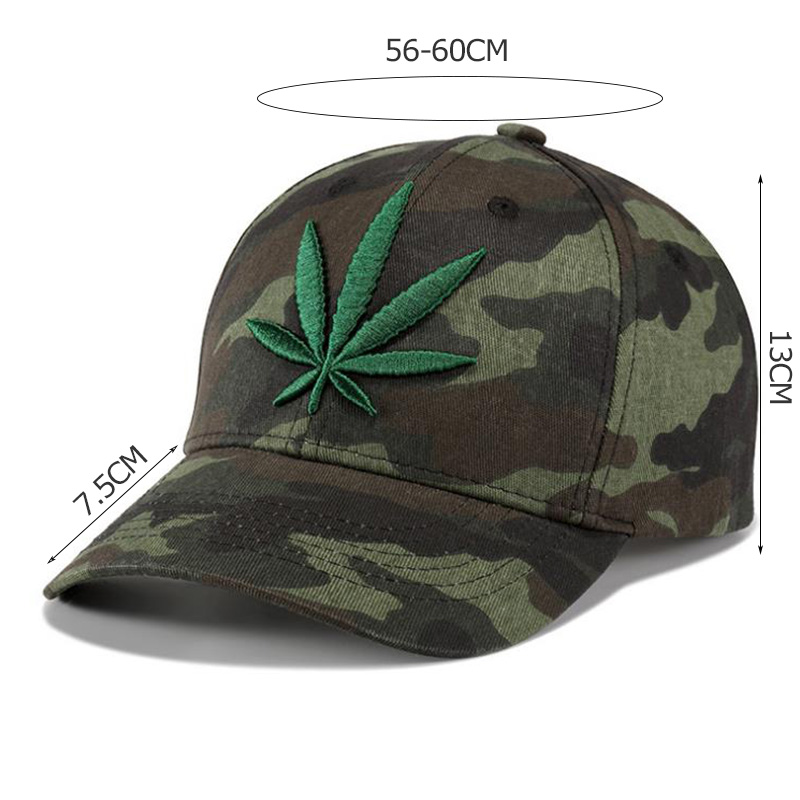 UNIKEVOW Brand New High Quality Camouflage Baseball Cap 3D Leaves Embroidered Caps Outdoor Sport Snapback Hat For Men Women in Men 39 s Baseball Caps from Apparel Accessories