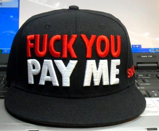 a9538982 NEW DESIGN Fuck You Pay Me Snapback Cap red black Wholesale headwear fuck  you pay me