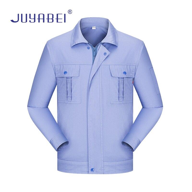 Workshop Machinery Repair Long-sleeved Overalls Welding Work Uniforms Shirts + Pants Professional Car Repair Work Clothing Men