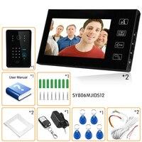 OWGYML 7 дюймов 700TVL беспроводной Дистанционное управление системы разблокировать домофон видео водостойкий дверные звонки RFID карты