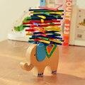 Bebé Juguetes Educativos Elefante Camello Equilibrio Equilibrio Juego de Bloques De Madera Juguetes De Madera De Haya Bloques Montessori Para Niños A19020