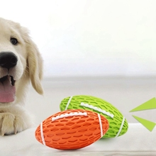 Dog Toys Squeak Sound Ball Rubber Rubgby Football Basketball Interactive For Dogs Small Medium Large Pets Toy Supplies