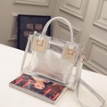 2017 Spring Summer New Transparent Women Messenger Bag Composite Bag  Waterproof Crossbody Beach Bag Jelly Hand  Bag HBC212