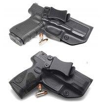 Dentro da cinta IWB Kydex Gun coldre para Taurus PT111 PT140 G2 Millenium G2C Glock 19 23 25 32