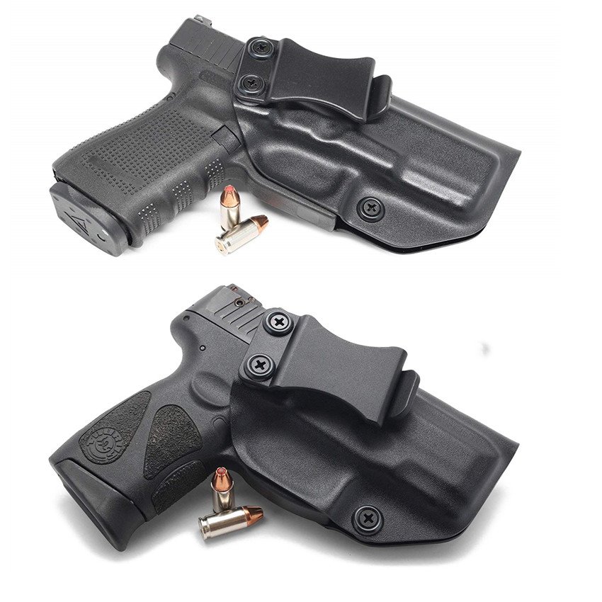 Inside The Waistband IWB Kydex Gun Holster For Taurus PT111 PT140 G2 Millenium G2C Glock 19 23 25 32 Concealed Carry