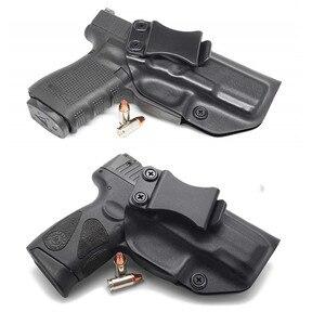 Image 1 - Wewnątrz paska kabura pistoletu IWB Kydex do Taurus PT111 PT140 G2 Millenium G2C Glock 19 23 25 32 ukryte przenoszenie