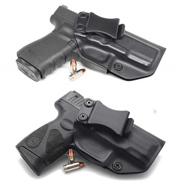 Wewnątrz paska kabura pistoletu IWB Kydex do Taurus PT111 PT140 G2 Millenium G2C Glock 19 23 25 32 ukryte przenoszenie