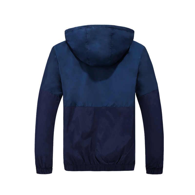 ジャケット男性ウインドブレーカー 2019 春秋のファッションのジャケット男性のフード付き男性コート薄型男性コート生き抜くカップル