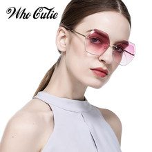 861d5883de Que lindo de gafas de sol mujer marca diseñador alta calidad 2018 polígono  claro lente montura gafas de sol mujer tonos OM306