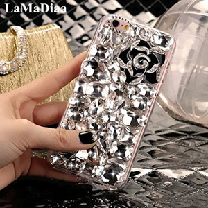 Image 4 - LaMaDiaa 3D Rhinestone Case for Samsung Galaxy J5 J4 J6 J7 J8 2018 A6 A8 A7 A5 A3 Bling Crystal Diamond Protective Shell Cover