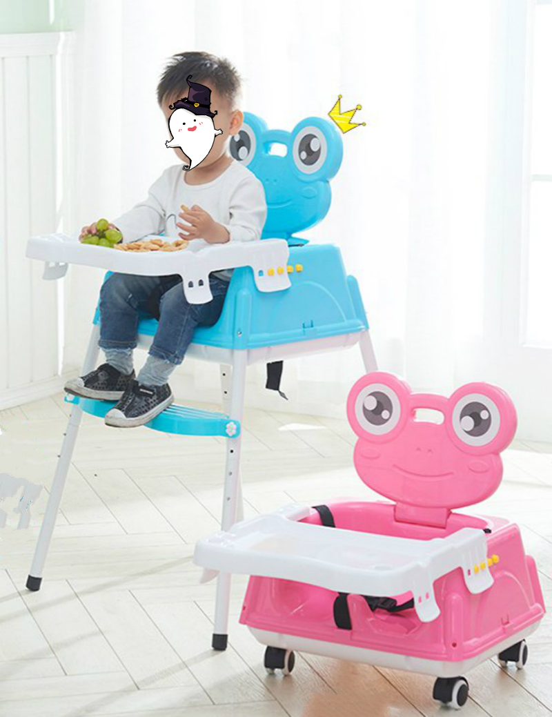 Baby Dining Chair Child Dinner Table Multifunctional Portable Folding Feeding Seats Adjust Height With