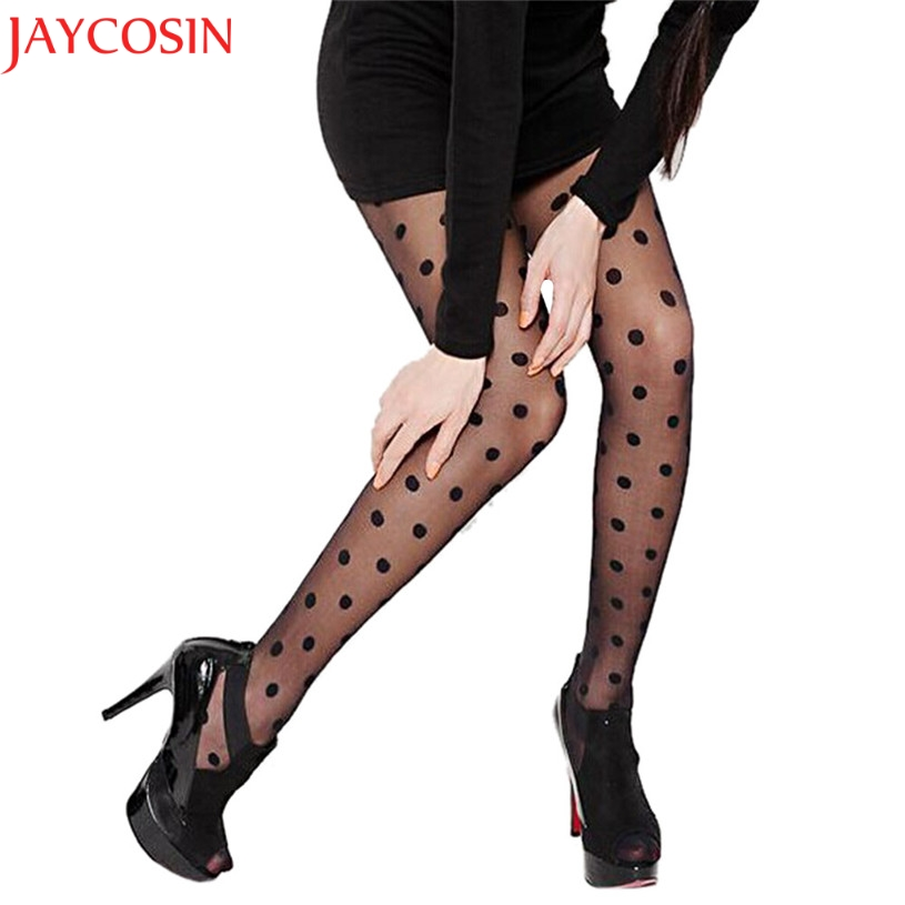 JAYCOSIN Summer Style Women Sexy Sheer Lace Big Dot Pantyhose Stockings Tights Thigh High Stockings 9.4