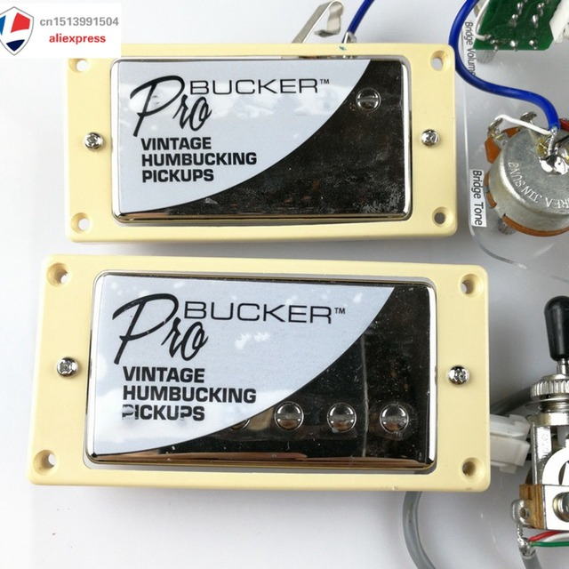 Cool Gold Classic Plus Probucker Pickups Quick Connect Set For Lp Chrome Wiring Cloud Intapioscosaoduqqnet