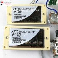 Gold Classic Plus ProBucker Pickups QUICK CONNECT Set For LP Chrome EPI ProBucker Alnico Neck and Bridge Pickups with Pro Wiring