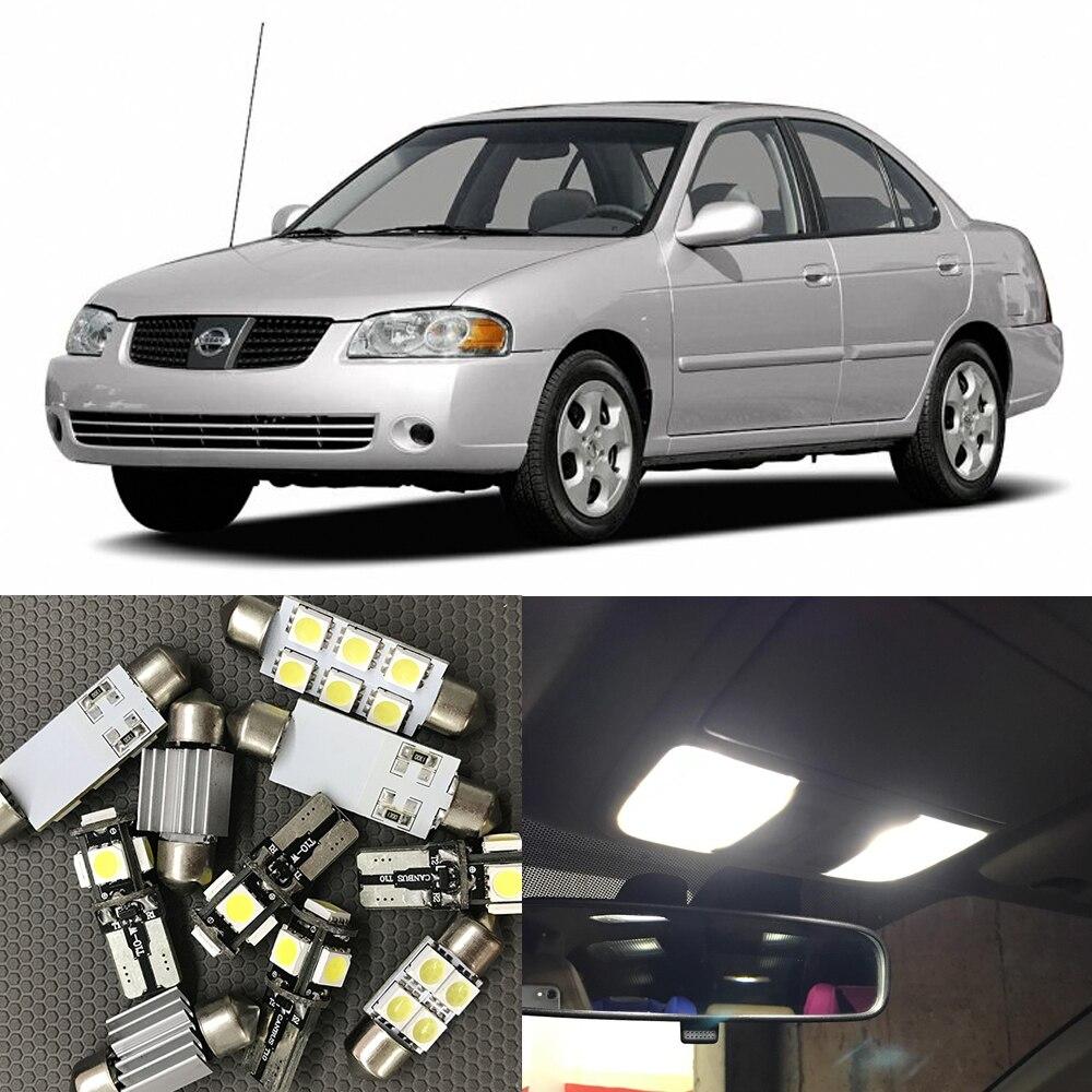 9pcs auto car led light bulbs interior kit for 2004 2005 - 2006 nissan altima interior led lights ...