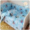 10 pcs bumper berço bedding carros mickey mouse do bebê do algodão do bebê cama da cama em torno de bebê roupas liberando transporte