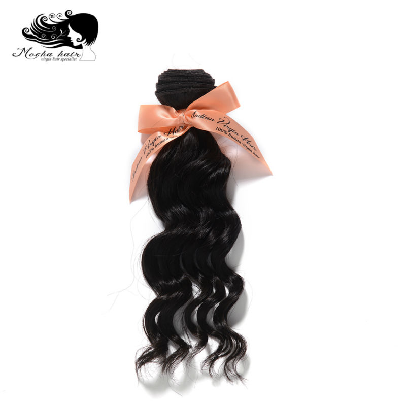 Mocha Hair loose wave Indian Virgin Hair extension 12inch 28inch Nature Color 100 Human Hair Weaves