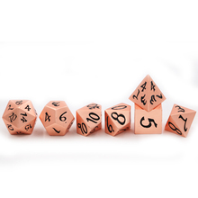 Midnight Rose Gold Colored Metal Dice Set
