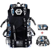 Рюкзак наборы большой камуфляж рюкзак мужчин Граффити Холст Школьные сумки большой Ёмкость Back Pack военные Mochila зарядка через USB