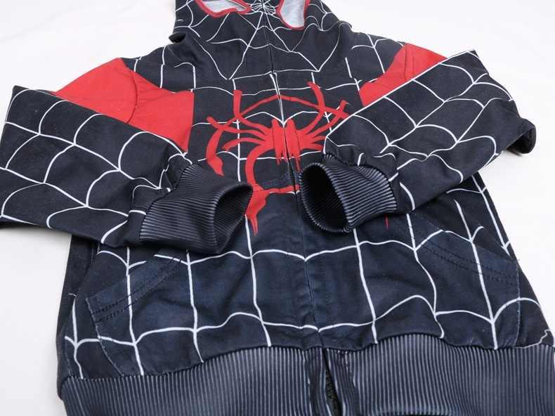 2019 Nova The Amazing Spiderman Trajes Cosplay Homem Aranha Agasalho Esporte Terno Crianças Meninos de Super-heróis 3D Impressão Calças de Topo Traje