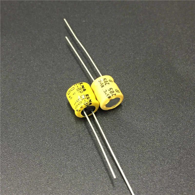 10 шт. 10 мкФ с алюминиевой крышкой, 50В ELNA CE-BP 6x7 мм 50V10uF биполярные аудио конденсатор с алюминиевой крышкой