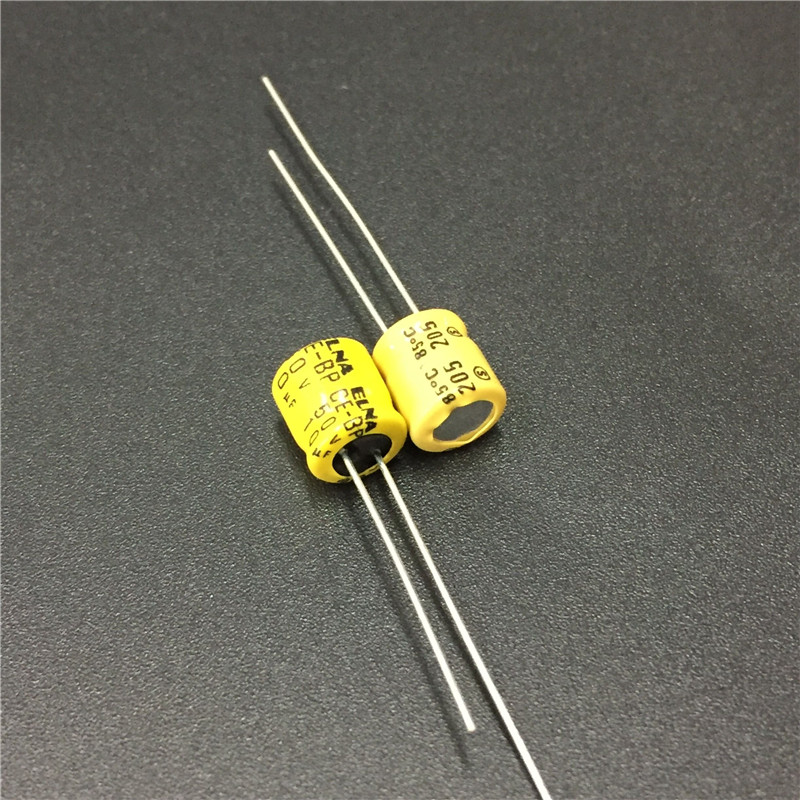 10pcs <font><b>10uF</b></font> <font><b>50V</b></font> ELNA CE-BP 6x7mm 50V10uF Bipolar Audio <font><b>Capacitor</b></font> image