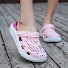 Asli Baru Taman Sandal Air Sepatu Wanita Pasangan Datar Musim Panas Pantai  Aqua Sandal Outdoor Sandal 42cbc36f68e3