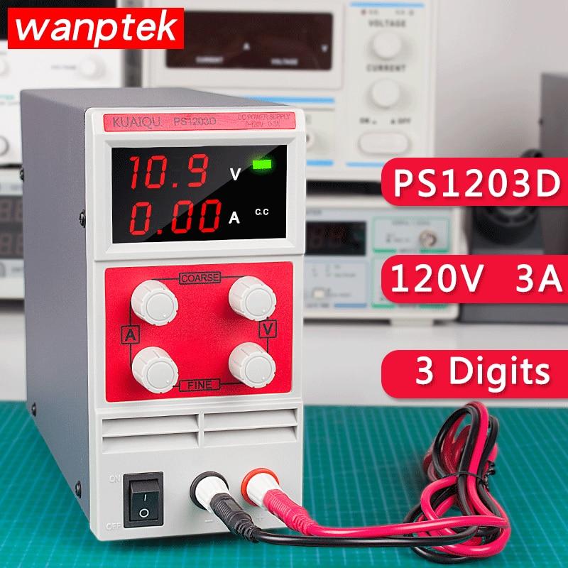 Wanptek DC power supply PS1203D Portable Adjustable Digital Display 120V 3A 110V 220V Switching Power Lab