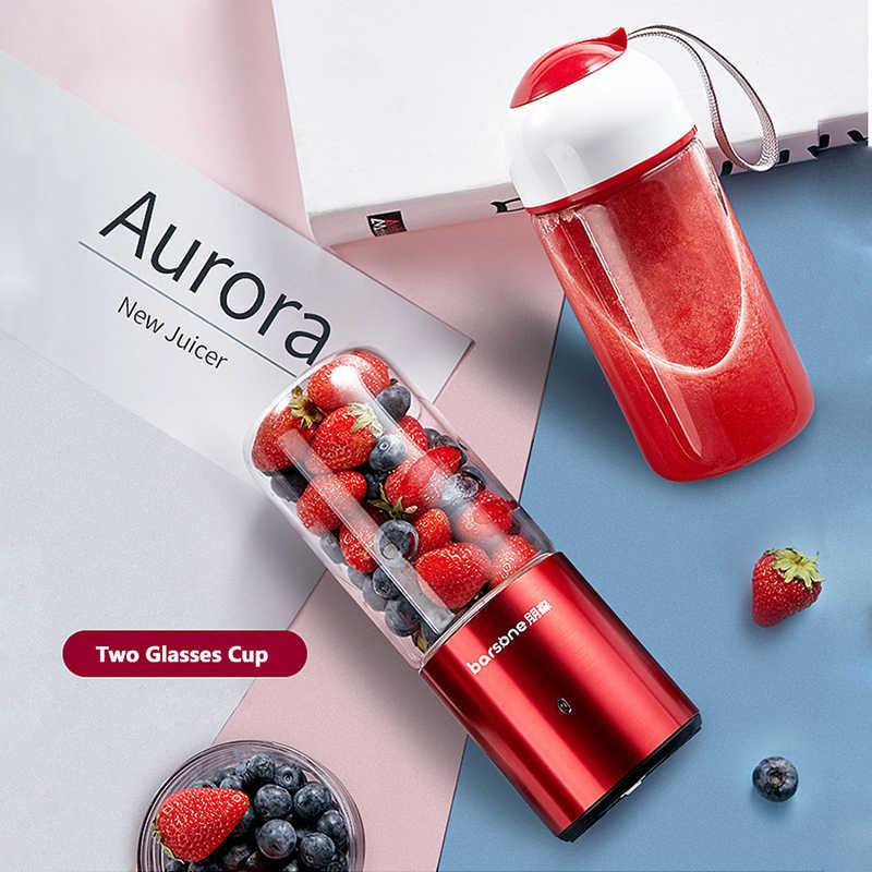 Portátil USB Automática Copo Liquidificador Espremedor Extrator Juicer máquina de Suco de Frutas Legumes Alimentos Liquidificador Espremedor Elétrico Máquina