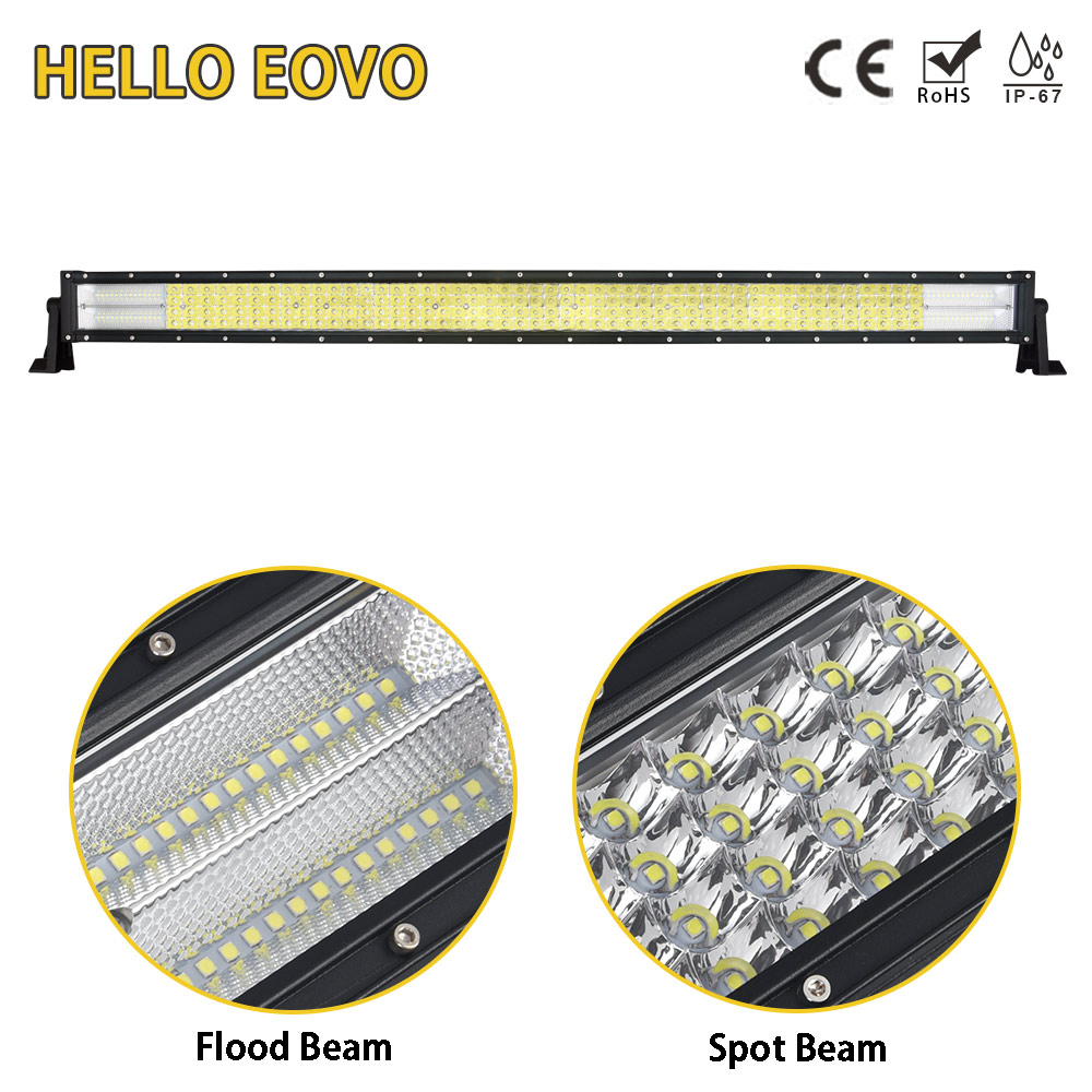HELLO EOVO LED Bar 4 Rows 32 inch LED Light Bar for Work Indicators Driving Offroad Boat Car Tractor Truck 4x4 SUV ATV 12V 24v new arrivals 20 inch 128led car work light 4 rows 384w led bar combo off road driving lamp