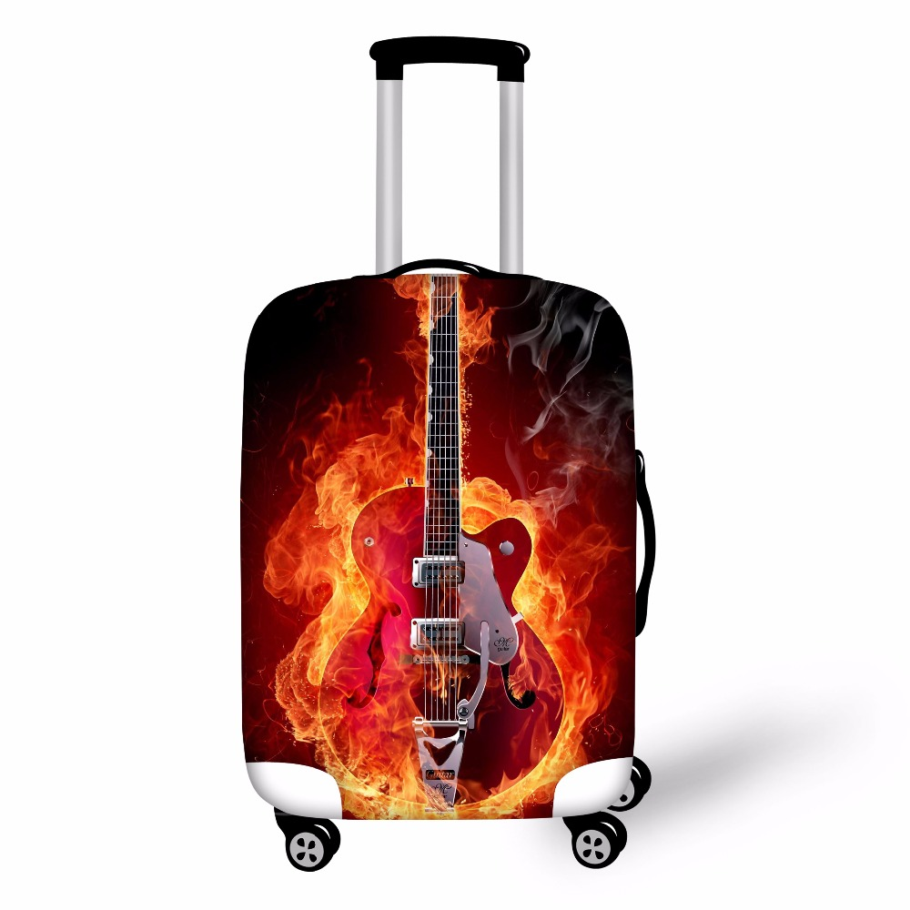 Cool Violin Printed Case Cover Thick Elastic Luggage Protective Cover Zipper Suit 18-30 inch Trunk Case Travel Suitcase Covers