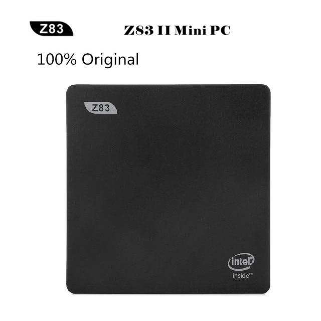 Original Z83II Mini 2G 32G Smart TV Box PC Intel Atom x5-Z8350 Quad Core Windows 10 64bit 2.4G/5.8G WiFi Set Top Box TV Box