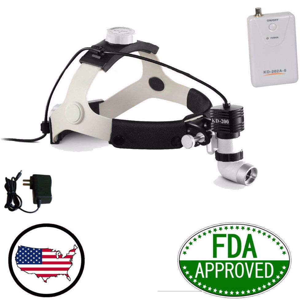 5W 80000lx LED Surgical Headlight High power Medical Dental Head Lamp FDA NQA KD 202A 6