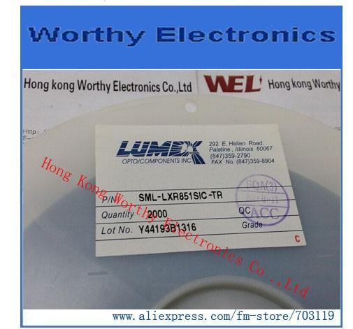 2000PCS/LOT=1REEL      SML-LXR851SIC-TR    SML LXR851SIC TR    LED 636NM SRED CLR RA SMD T/R