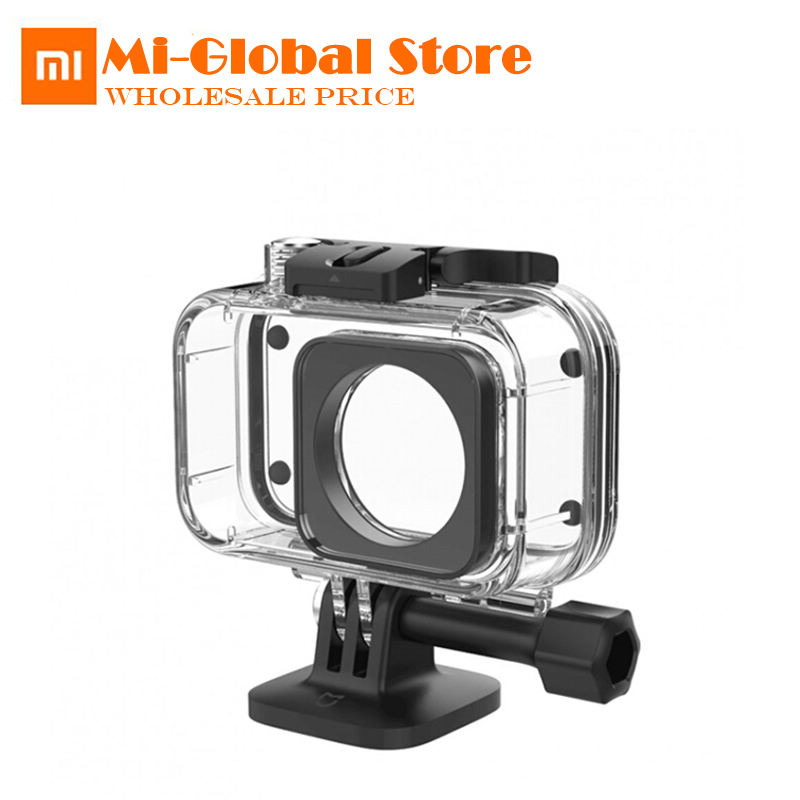 Original Xiaomi Mijia IP68 Diving Case 40M Depth Waterproof Protector Case Cover for Xiaomi Digital Camera Sports Mini original xiaomi 10000mah power bank silicone case charger protector cover white