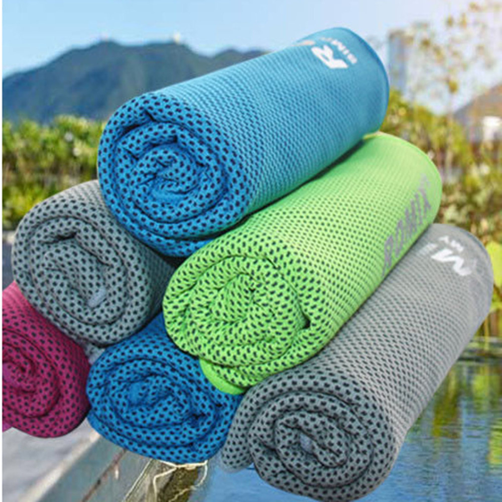 2018 Sweatband Cooling Towel Sports Running Cycling For Sportswear Accessories Towels Outdoor Sports Gym Fitness Traveling A Plastic Case Is Compartmentalized For Safe Storage