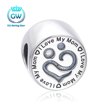 """2017 New """"I love Mother"""" fit Essence Charms 925 sterling-silver-jewelry Original Snake Chain Bracelet T209 35"""